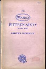 Wolseley 15/60 Fifteen Sixty original Handbook 1958 Pub. No. AKD 1017