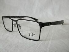 RAY BAN CARBON FIBER GLASSES FRAME RX8415 2848 BLACK 55-17-145 NEW & AUTHENTIC