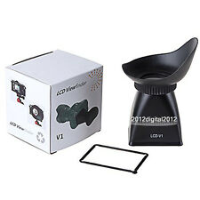 V1 2.8X Magnifier Magnetic LCD Viewfinder Hood For Canon 5DII 7D 500D Excellent