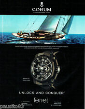 PUBLICITE ADVERTISING  016  2009  Corum  montre Admiral's Cup black Hull 48