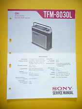 Service Manual for Sony TFM-8030L ,ORIGINAL