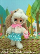 Japan Takara Tomy Petite Blythe Doll Puppy On A Date Rare 1/12 11cm Fashion Doll