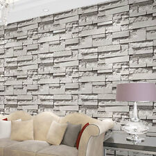 3D Stone Brick Textured Art Decor Wallpaper Mural Roll Modern Wall Background