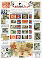 GB 2011 British Empire Exhibition Smilers sheet MNH stamps VGC. V ltd edition