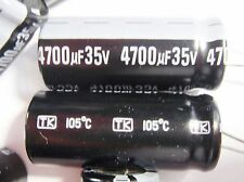 3 Stück 4700uF 105°C 35V ELKO radial Jamicon Japan #14E13