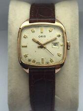 Vintage Mens Watch Oris Caliber 654 Kif GP Case Art Deco Watch Read Description