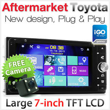 "7"" Car DVD Player GPS For Land Cruiser FJ Prado Highlander Hiace USB MP3 Sat Nav"