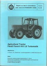 FENDT TRACTOR FAVORIT 612 LS TURBOMATIK TEST REPORT  - CASE2 *ORIGINAL*