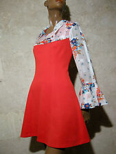 CHIC VINTAGE ROBE 1970 VTG DRESS 70s KLEID 70er ABITO ANNI 70 SEVENTIES (36/38)