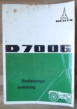 Deutz Schlepper D 7006  Bedienungsanleitung