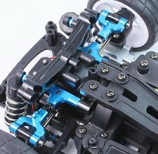 RC Auto Hop Up Lega REAR UPPER ARMS REGOLABILE CAMBER FIT Tamiya TT01 TT-01E BLU