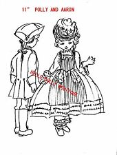 """1700""""S 11 """"GIRL &""""BOY COLTH DOLL PATTERN WITH CLOTHES"""
