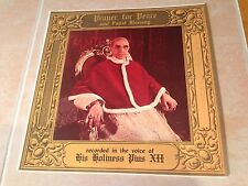 Prayer for Peace Papal Blessing 78RPM Record by His Holiness Pius XII RCA Victor