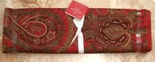 """POTTERY BARN ~ CHRISTMAS CAROLINE PAISLEY TABLE RUNNER ~ 18"""" X 108"""" ~ SOLD OUT"""