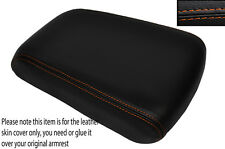 ORANGE STITCH ARMREST LID LEATHER SKIN COVER FITS JEEP GRAND CHEROKEE 1999-2004