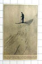 1927 Travelling From Tring To Dunstable By Ski, Photo On The Ivinghoe Hills