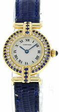 Cartier Rivoli 18K Yellow Gold W/ Diamonds & Sapphire