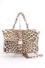 MULBERRY Brown White Leopard Animal Print Messenger PonyHair Shoulder Bag Purse