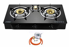 PS 3 Gas Stove Cooker 3 Burners Portable Hob Indoor Cooktop LPG 8.8kW NEW