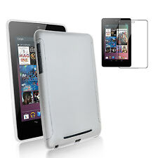 Google Nexus 7 Kit- Premium Clear TPU Gel Skin Case+FREE HD Screen Protector