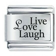 LIVE LOVE LAUGH - Daisy Charms by JSC Fits Classic Size Italian Charm Bracelet