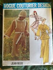 1960's VOGUE Couturier Sewing Pattern 2829 JEAN MUIR PLEATED DRESS PANT SZ 12