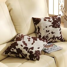 Cowhide Throw Pillow Accent Western Rustic Contemporary Modern Home Living Decor
