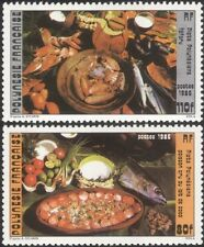 French Polynesia 1986 Traditional Food/Cooking/Dishes/Gastronomy 2v set (n37478)
