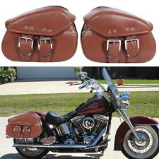 Mini Motorcycle Saddle Sissy Bar Tool Bag Luggage Fr Chopper Bobber Honda Harley