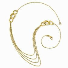 14K YELLOW GOLD 4 STRAND FANCY LAYER ROPE NECKLACE -  ITALY  3.2 GRAMS  18""