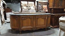 5509008 : Antique French Louis XV Marble Top Sideboard Buffet