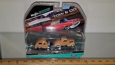 1/64 MAISTO TOW & GO 36 FORD CUSTOM COUPE TRAILER TEARDROP TRAVELER TRAILER TAN
