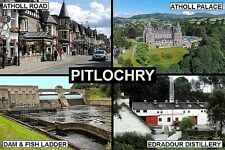 SOUVENIR FRIDGE MAGNET of PITLOCHRY SCOTLAND