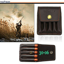 Tourbon Rifle Ammo Holder Pouch Bullet Cartridge Belt Gun Hunting Leather 5 Loop