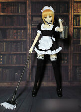 1/3 bjd Dollfie Dream Doll DDL/DDM Outfit Saber Maid Dress with Mop & Bucket Set