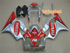 Injection Silver Red ABS Fairing for Honda 2004-2007 CBR600 F4I 2005 2006 i17