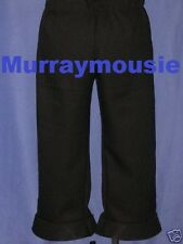 Custom-Made in USA Zip Fly TOS PANTS BLACK STAR Trek Uniform ANYSIZE Costume