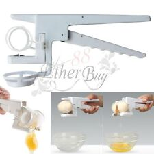 EZ Egg Cracker Handheld York & White Separator On TV Kitchen Gadget Tool NEW