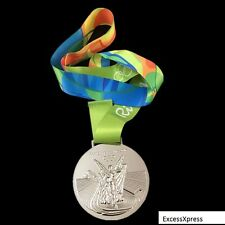 New 2016 RIO OLYMPIC SOUVENIR MEDAL W/RIBBON - Silver - Collectable