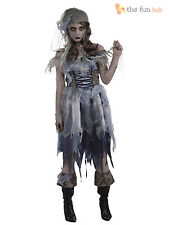 Ladies Zombie Pirate Womens Ghost Ship  Halloween Fancy Dress Costume Size 10-14