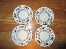 """Four J&G Meaking Made in England 5.5"""" saucers Blue Nordic Classics*"""