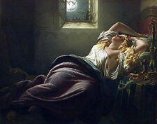 Large Oil painting Dream of the Falcon nice young woman sleeping Hand painted