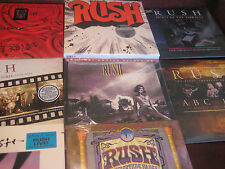 RUSH COLLECTION W/ MFSL PERMANENT WAVES + MOVING  - LIVE - CLOCKWORK 31 LPSET