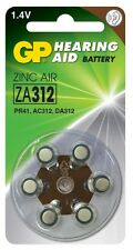 GP Batteries GPZA312-D6 Zinc Air Hearing Aid 1.4V Button Cells
