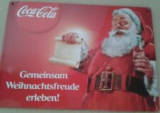 Blechschild Coca Cola Weihnachten Weihnachtsmann