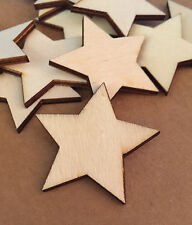 Wooden Star Shapes Unpainted Blank Craft Shapes & Embellishments X10