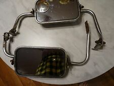 1967-72 ford truck west coast stainless mirrors with air deflectors