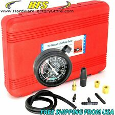 Carburetor Valve Fuel Pump Pressure & Vacuum Tester Gauge Test Kit Car & Truck