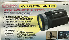 OMEGA 6V KRYPTON LANTERN LIGHT WEATHER PROOF DUAL BATTERY OPTIONS SPARE BULB
