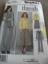 SEWING PATTERN S1944 MISSES JACKET TOP SKIRT PANTS SIZE 8 TO 16 UNCUT